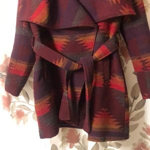 Steve Madden Jackets & Coats - Aztex print coat